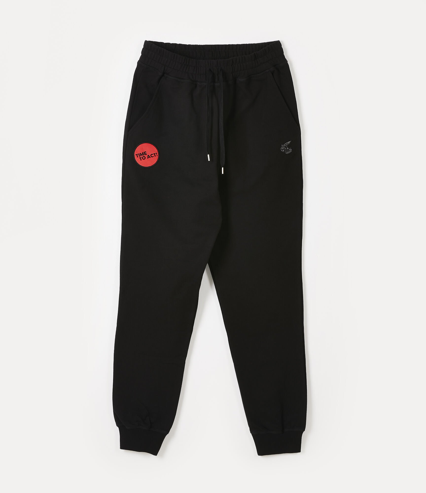 Vivienne Westwood CLASSIC TRACKSUIT BOTTOMS TIME TO ACT BLACK